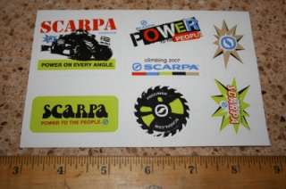 SCARPA Climbing Shoes Boots STICKER Decal 7 Sticker Set