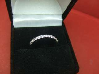 Diamond Wedding Band, 14k White Gold Ring SIZE 5.25