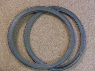 Vintage 24x1 3/4 S7 All Black Cruiser Bike Tires, pair