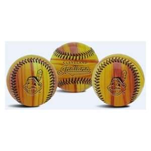 Cleveland Indians MLB Wood Grain Baseball: Sports & Outdoors