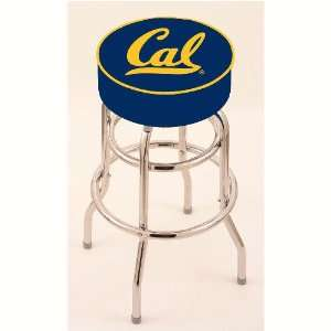 Cal Golden Bears 30 Double Ring Swivel Bar Stool with 4