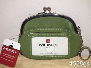 MUNDI GENUINE LEATHER LARGE COIN PURSE WALLET   NEW