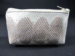 NATURAL Sea Snake Leather Skin Zip Coin Purse +