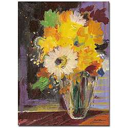 Sheila Golden Glass Vase Gallery wrapped Canvas Art  Overstock