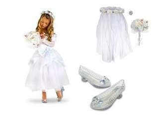 White Wedding Costume Dress Shoes Accessory Set veil
