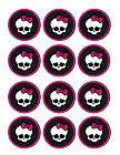 Monster High edible party cupcake toppers cupcake image sheet