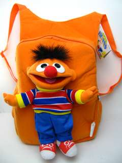 NEW Plush Sesame Street Ernie doll Backpack bag / tote