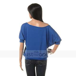 Casual Trendy Women Lady Girls Sleeve Off shoulder Batwing Tops Blouse