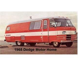 1965 Dodge Motor Home Refrigerator Magnet