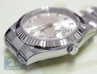 Datejust II Automatic Mens Watch Original Set Dial Diamonds 116334 SDO