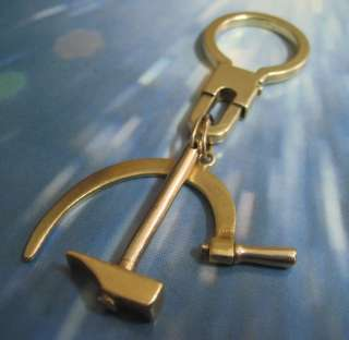 Hammer & Sickle ☭ 18k Yellow Gold key ring /chain ☭
