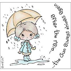 Crafters Companion S.W.A.L.K. After the Rain Rubber Stamps