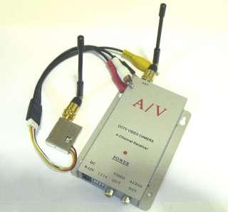 4xCh RC Spy Camera 100mW Wireless AV Transmitter Receiver 1.2Ghz 100mW