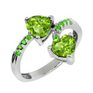 1.78 Ct Genuine Heart Shape Green Peridot Gemstone 10k