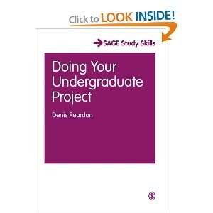 Doing Your Undergraduate Project (SAGE Essential Study