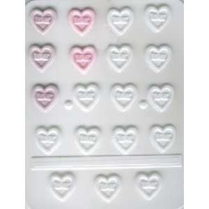 Valentines Love Hearts Hard Candy Molds