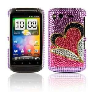 WalkNTalkOnline   HTC Desire S Purple & Pink Love Heart