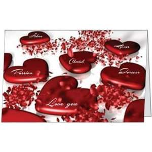 Valentines Day Lover Hearts Spouse Husband Wife Cherish Greeting Card