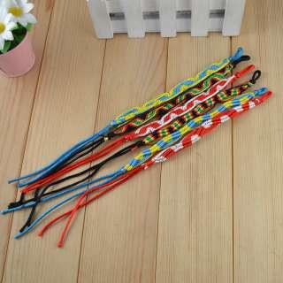 Lot 10pc Multi Color Fashion Rope Costume Cocktail Friendship Bracelet