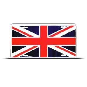 British Britain Flag Union Jack Metal License Plate