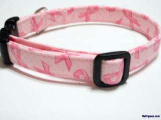 Awesome Pink Breast Cancer Awareness Dog Collar
