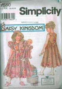 OOP Simplicity Daisy Kingdom Childs Girls Matching Doll Clothes