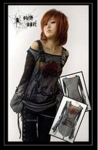 Visual kei fashion cool punk gothic lolita t shirt top
