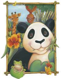 panda bear friends peel stick mural click on any picture to see