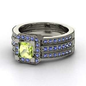 Va Voom Ring, Princess Peridot Sterling Silver Ring with Sapphire