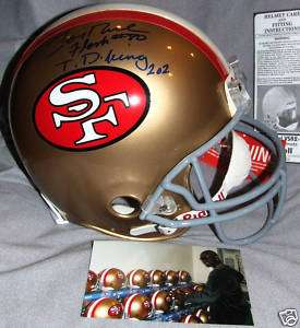 SAN FRANCISCO SF 49ERS JERRY RICE FLASH TD KING 202 SIGNED AUTO