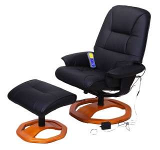 NEW Professional Leather Black Office TV Recliner Massage Chair With