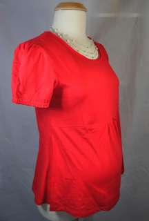 NEW Career Casual Red Short Sleeve Trendy Maternity Shirt Top  Choose