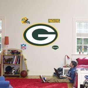 Green Bay Packers Logo Fathead Wall Decal: Home & Kitchen