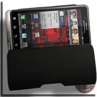 Leather Case Motorola DROID BIONIC Verizon Pouch Holster Black B Belt