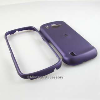 PURPLE Hard Rubberized Cover Case Samsung Omnia 2 i920