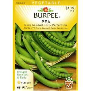 Burpee 62181 Pea, Shelling Dark Seeded Early Perfection