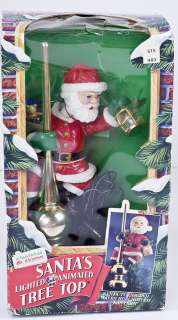 santa s lighted animated tree top display description up for sale