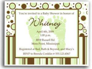Baby Shower Invitations pink, blue or green 4a baby