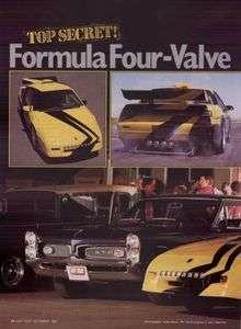 1987 PONTIAC FIERO   PONTIAC MOTORSPORTS PRO STREET FIERO ARTICLE