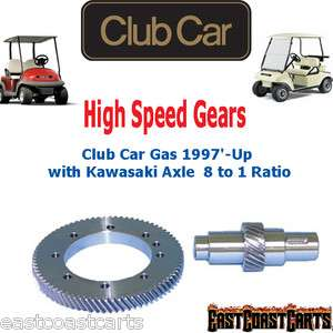 Club Car Gas 1997 Up Golf Cart w/Kawasaki Axle High Speed Gears 81