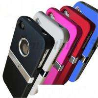 COVER W/CHROME FOR iPhone 4 4G 4S CASE WHITE/BLACK/BLUE/RED/HOT PINK