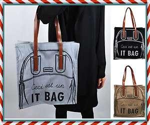 New Ladies Eco IT BAG Canvas Painting ToTe Bag Book Bag Large Unique