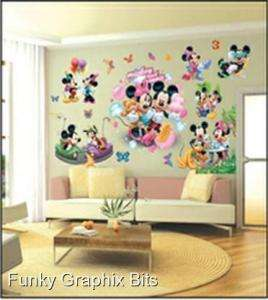 CHILDREN WALL STICKERS, HUGE SET OF STICKERS, MICKEY AND MINNIE MOUSE