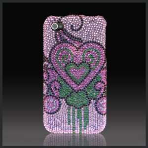 Bleeding Hearts on Pink Cristalina crystal bling case