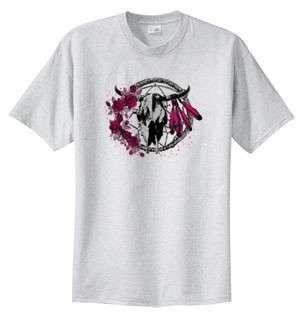 Native American Dreamcatcher Skull Roses T Shirt S 6x