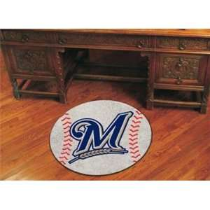 Milwaukee Brewers MLB Gear Baseball Area Rug Logo Mat
