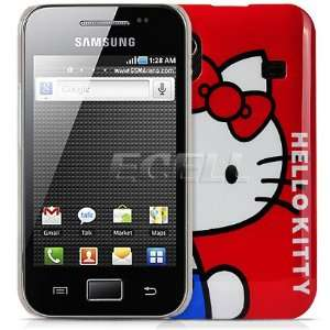 Ecell   RED HELLO KITTY HARD CASE FOR SAMSUNG S5830 GALAXY