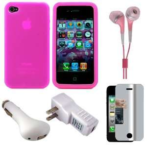 Hot Pink Premium Rubberized Protective Soft Silicone Skin Cover Case