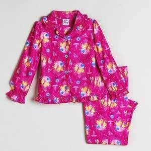 DISNEY PRINCESS Girls Pink Flannel Pajamas Sleepwear Set NWT Sz 2T, 3T