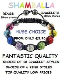 Shamballa Disco Ball Friendship Bracelets & Rings. Shambala.